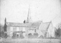 old photo of Presbytery and church